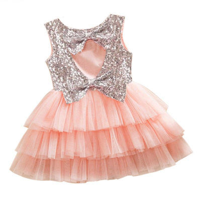 Beautiful Cut Out Sequined Tiered Tutu Kids Party Dress Girls Princess Dresses Kids Now Apparel
