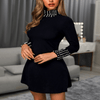 Black Beaded Dress Turtleneck Mini Dress Dresses Daisy Dress For Less