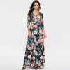 Black Maxi Dress With Sleeves Floral Print Long Dress Dresses Daisy Dress For Less