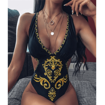 Black One Piece Bathing Suit Backless Women Swimsuit Bathing Suits Daisy Dress For Less
