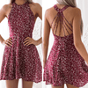 Bohemian Dresses For Women Floral Sleeveless Dress Cover-up D