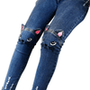 Cat Kids High Waisted Pants Girls Skinny Jeans Pants Kids Now Apparel