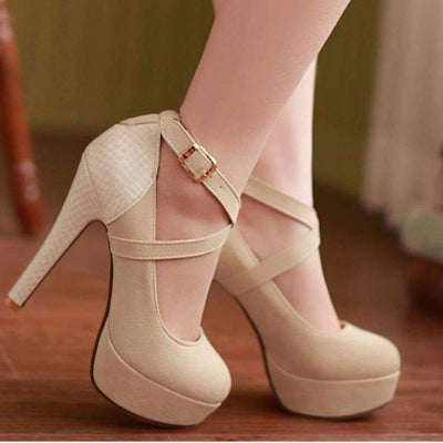 Criss Cross High Heel Pump Shoes Shoes Daisy Dress For Less