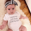 Cute Baby Onesies Letter Print Bodysuit Bodysuits Kids Now Apparel