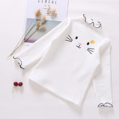 Cute Sweatshirt For Girls Cat Print Sweater Sweaters Kids Now Apparel