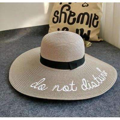 Do Not Disturb Embroidery Print Women Summer Straw Hats Headwears Daisy Dress For Less
