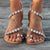 Dressy Beach Sandals Womens Rhinestones Flat Sandals