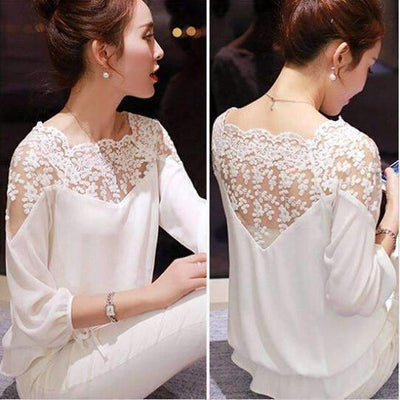 Elegant Floral Lace Chiffon Blouse Blouse Daisy Dress For Less