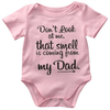 Fashion Cotton Funny Print Pink Baby Onesie Clothing Sets Kids Now Apparel