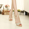 Fashion Fish Mouth Metallic High Heel Sandals Sandals Daisy Dress For Less
