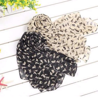 Fashion Noble Cat Printed Shawl Scarf Scarf Daisy Dress For Less