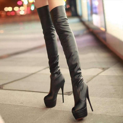Fashion Over The Knee Women High Heel Boots Boots Daisy Dress For Less