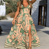 Floral Maxi Dress With Slit V Neck Long Dress Dresses Daisy Dress For Less