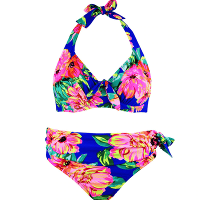 Floral Print Bikini Sets Womens Push Up  Bathing Suit Bikini Set Daisy Dress For Less