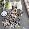 Floral Print Long Dresses Strappy Back Maxi Dress Dresses Daisy Dress For Less
