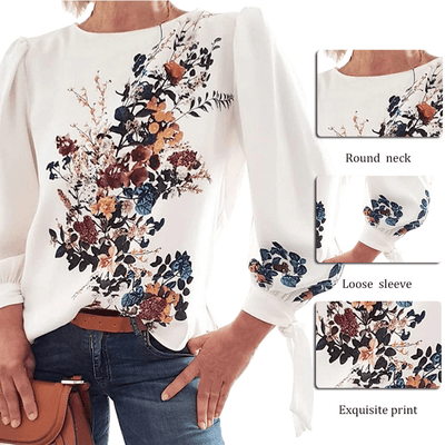 Floral Tops For Women Long Sleeve Blouse Blouses & Shirts Daisy Dress For Less