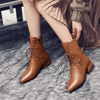 Genuine Leather Boots Womens Pointed Toe Ankle Ankle Boots Daisy Dress For Less