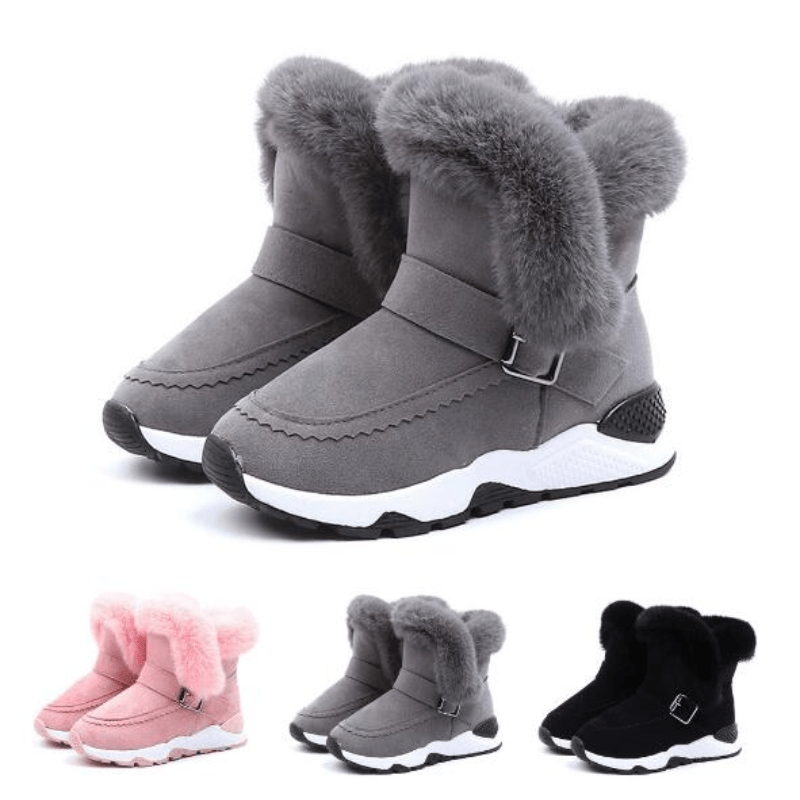 Girls Winter Boots With Faux Fur Kids