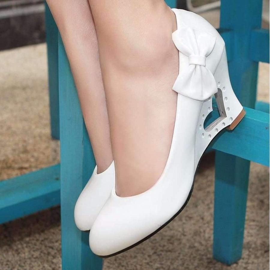 3ff081134c8 Heart Heel Bowtie Women Wedge Shoes Shoes Daisy Dress For Less