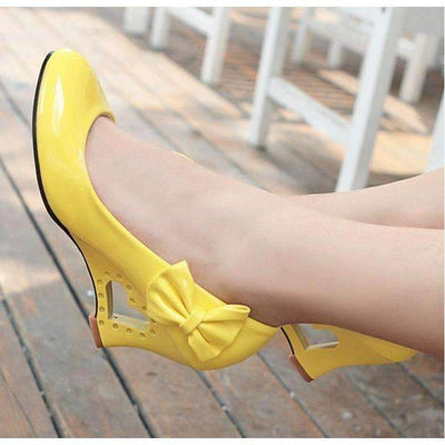 Heart Heel Bowtie Women Wedge Shoes Shoes Daisy Dress For Less