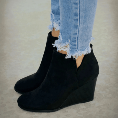 High Heels Wedges Shoes Pointed Toe Ankle Boots Ankle Boots Daisy Dress For Less