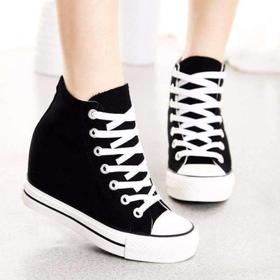 High Top Canvas Fashion Wedge Sneakers For Women Sneakers Daisy Dress For Less
