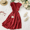 High Waist A Line Dress V neck Mini Dresses Dresses Daisy Dress For Less