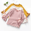 Kids Top Ruffle Hem Long Sleeve Flare Shirt Sweater Kids Now Apparel