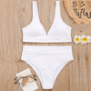 Knitted Bathing Suits V Neck High Waisted Bikini Set Bikini Set Daisy Dress For Less