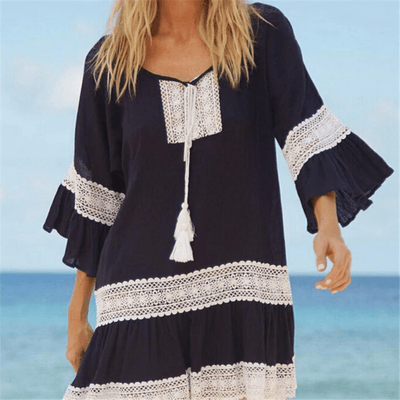 Lace Cover Up Dress Summer Beach Dress Cover-up Daisy Dress For Less