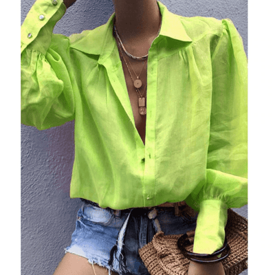 Lantern Sleeve Blouse Women Loose Shirts Blouses & Shirts Daisy Dress For Less