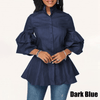 Lantern Sleeve Blouse Women's Denim Shirts Long Sleeve Blouses & Shirts Daisy Dress For Less
