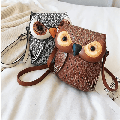 Leather Owl Purse Leather Phone Crossbody Crossbody bags Daisy Dress For Less