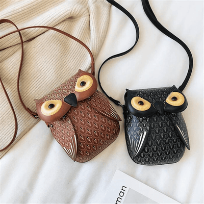 Leather Owl Purse Phone Crossbody Bags Crossbody bags Daisy Dress For Less