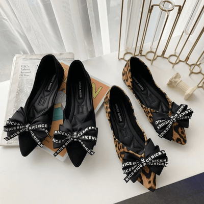Leopard Printed Shoes Women's Pointed Toe Flat Shoes Flat shoes Daisy Dress For Less