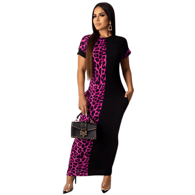 Long Bodycon Dress With Sleeves Leopard Dress Dresses Daisy Dress For Less