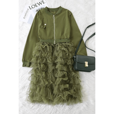 Long Coats For Women Ruffled Mesh Sheer Jackets Jackets Daisy Dress For Less