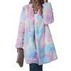 Long Fleece Jacket Tie Dye Faux Fur Coat Jackets Daisy Dress For Less