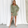 Long Puff Sleeve Dress Asymmetry Mini Dress Dresses Daisy Dress For Less