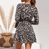 Long Sleeve Chiffon Dresses Leopard Print Boho Dress Dresses Daisy Dress For Less