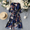 Long Sleeve Floral Midi Dress V Neck Wrap Maxi Dress Dresses Daisy Dress For Less