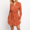Long Sleeve Floral Mini Dress Belted Shirt Dress Dresses Daisy Dress For Less