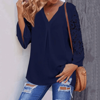 Long Sleeve Lace Top Women's Three Quarter Sleeve Blouses Blouses & Shirts Daisy Dress For Less