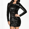 Long Sleeve Sequin Mini Dress Backless Bodycon Dress Dresses Daisy Dress For Less