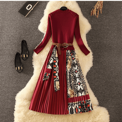 Long Sleeve Vintage Dress Women Pleated Dress Dresses Daisy Dress For Less