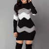 Long Sleeved Mini Dresses Knitted Bodycon Sweater Dress Sweater Dress Daisy Dress For Less