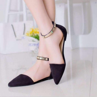 Lovely Pointed Toe Women Flats Sandals Flat shoes Daisy Dress For Less