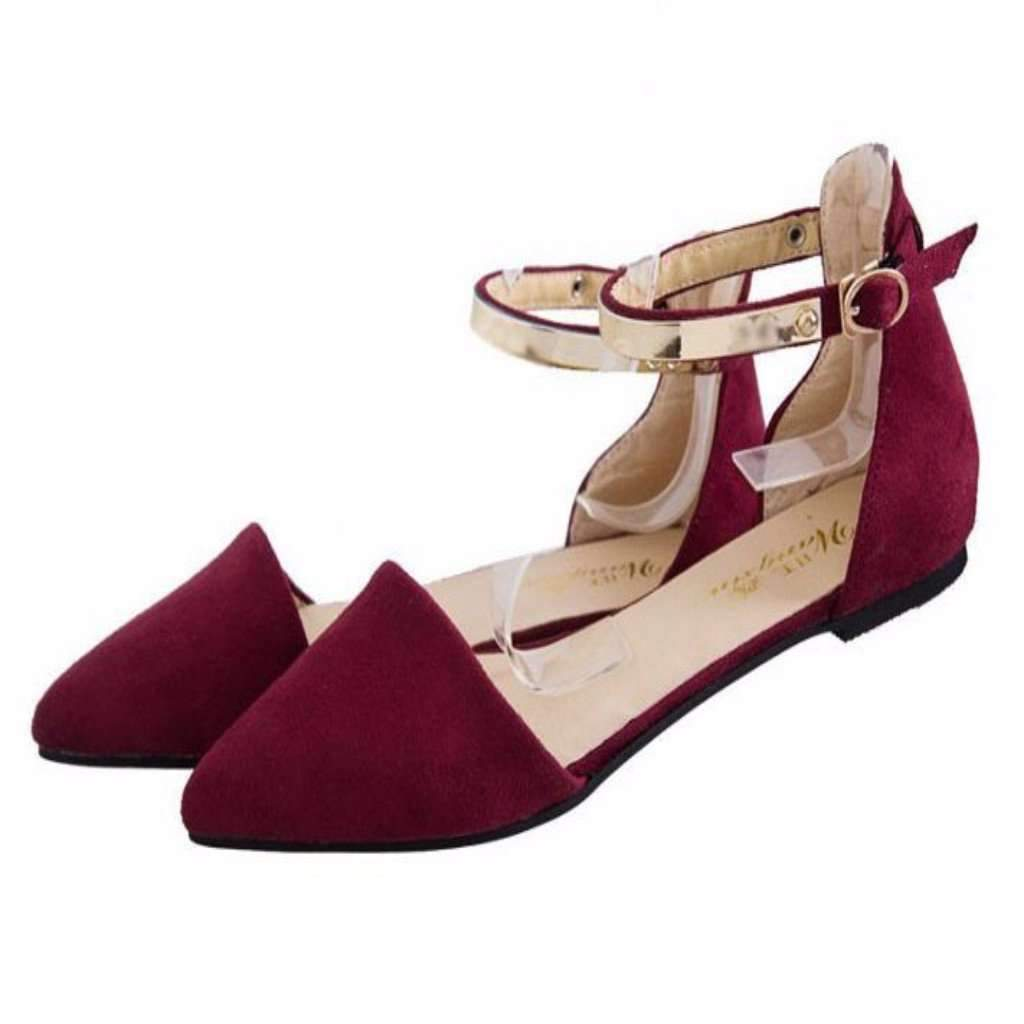 62fab246aabb6 Lovely Pointed Toe Women Flats Sandals
