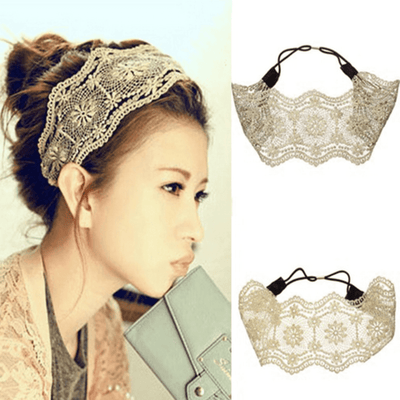Lovely Wide Floral Lace  Headband Headband Daisy Dress For Less