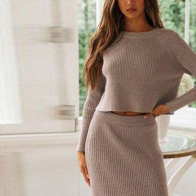 Matching Sets Outfits Crop Tops And Knitted Skirts Women's Sets Daisy Dress For Less
